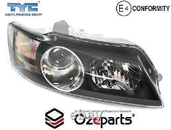Paire Lh+rh Head Light Projector Black For Holden Commodore Vy Calais Hsv 0204