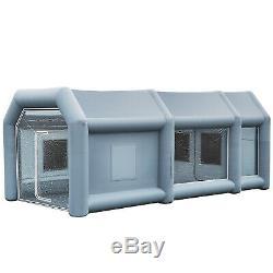 Peinture Tente Gonflable Portable Cabine De Projection Voiture Station De Travail Mobile Avec 2 Soufflantes