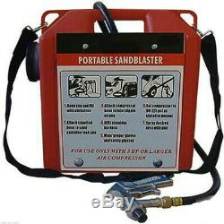 Portable Sandblaster Kit Blaster Kit Blasting Pour Pistolet Capacité 30lb