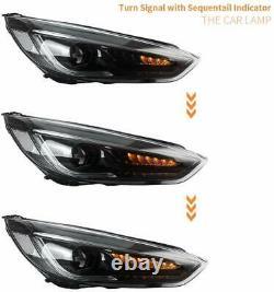 Pour Ford Focus Phares 15-17 Mk3 St Lampes Frontales Avec Indicateur Séquentiel Led