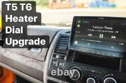 Pour Vw Transporter Heater Control Upgrade Dials+adaptateurs Black T5 T5.1 & T6 Mod