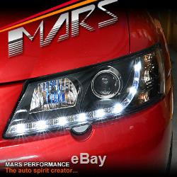 Projecteur Noir Drl Led Pour Lampes Frontales Holden Commodore Vy Ute Sedan Wagon
