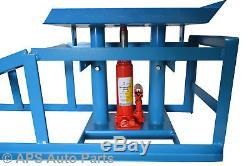 Rampe Hydraulique De Voiture Résistante (paire) Rampe De Cric De Bouteille De Garage De Garage De 3000lbs De Garage