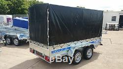 Remorque De Voiture 8ft X 4ft Box Remorque Twin Axle 750kg À Plat