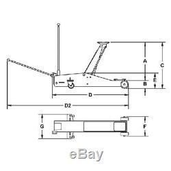 Rodcraft Wagenheber Rh151 1,5 T Rangierheber Avec Moyeu 540 MM Et 1,5 T Tragkraft