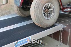 Rollstuhlrampe Kofferrampe Doppelt Klappbar 183cm Alu Friktionsbeschichtung
