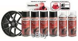 Roue En Alliage Peinture Spray Speed + Noir Brillant Transparent Brillant Vernis 6 Boîtes Techniq