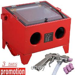 Sandblaster Sand Blaster Blasting Blast Sandblasting Bead Cabinet 90l Avec Led