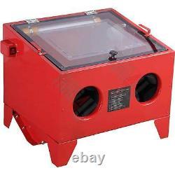 Sandblaster Sand Blaster Blasting Blast Sandblasting Bead Cabinet 90l Led Light