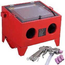 Sandblaster Sand Blaster Blasting Sandblasting Bead Cabinet 90l Avec Led