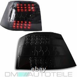 Set 2xvw Golf 4 Mk4 IV Full Led Lumières Arrière Deep Black Edition Tail Lights 97-03