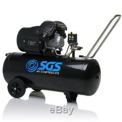 Sgs 100 Litres Direct Drive Compresseur D'air Et 5 Pièces Kit D'outils 14.6cfm, 3.0hp, 1