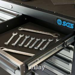 Sgs 41 Professional 14 Tiroirs En Acier Inoxydable Coffre Et Rouleau Cabinet