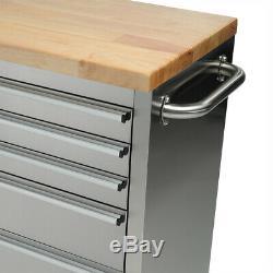 Sgs 55 Tiroir Travail En Acier Inoxydable 10 Banc Boîte À Outils Coffre Cabinet