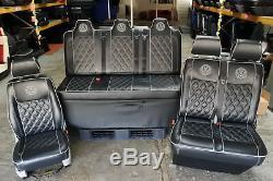 Sièges T5 Vw Transporter T4 T6 Et Pleine Largeur Lit Rock N Roll De Skaï