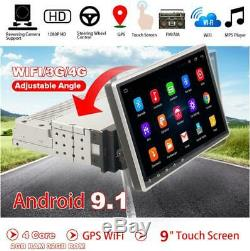Simple Din Voiture Écran Tactile 9 '' Android 9.1 Stereo Radio Bt Gps Wifi Miroir Lien