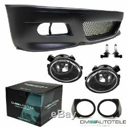 Sport Stoßstange Vorn Passt Für Bmw E46 Coupé Cabrio + Set Nebel Klarglas Für M3