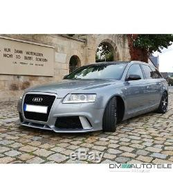Sport Umbau Stoßstange Vorne + Wabengrill Passt Für Audi A6 4f Bj 04-11 Kein Rs6