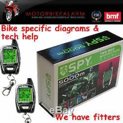 Spy 5000 Alarme Moto Motocyclette Et Antidémarrage 2 Way LCD Téléavertisseur Démarrage À Distance