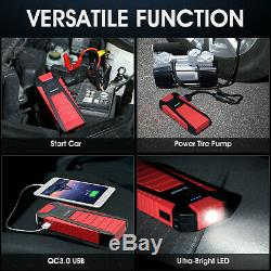 Suaoki 2500a 25000mah Usb Car Jump Starter Chargeur De Batterie Power Booster Rescue