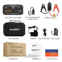 Suaoki U28 2000a Car Jump 18000mah Chargeur De Batterie Booster Powerbank Led