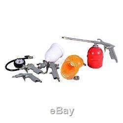 Switzer Compresseur D'air 50l Litres Ltr 2.5hp 8 Bar 9.6cfm + Roue 5pcs Kits Ac004
