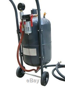 Switzer Portable Blaster Sable 38l 10 Gallon Mobile Sable Perle Blasting Gun Incl