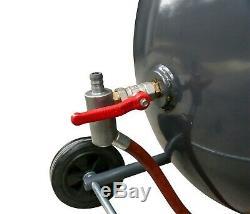 Switzer Portable Sand Blaster 76l Pistolet De Projection Mobile Pour Perles De Sable, 20 Gallons