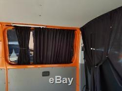 T5 Et T6 Vw Gardinen Vorhänge Transporter Multivan Caravelle Schwarz Pr85