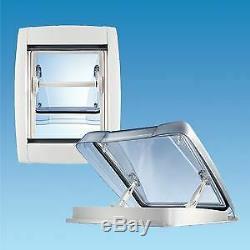 Toit Mpk Vision Star Pro Vent Puits De Lumière Caravan Motorhome 400 X 400 MM Blanc