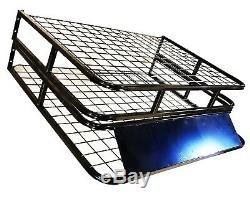 Toit Universel Panier En Acier Cargo Plateau Pliant Bagages Porte-rack 1,6m X 1m