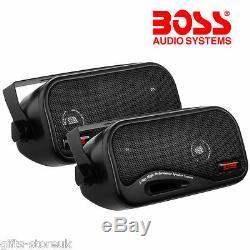 Total Boîte Enclosed Car / Caravane Du Plateau De Haut-parleurs Boss Audio Ava6200 3 Voies