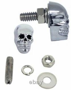 Totenkopf Skull Schrauben Kennzeichen Metall Chrom Schwarz Chopper Custom 25mm