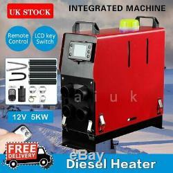 Tout En Un 5kw 12v Chauffe Diesel Air 4 Trous Moniteur LCD Camions À Distance Bateaux Voiture