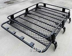 Transit Van Steel Barre De Toit Plateau Top Noir 4x4 Cargo Porte-bagage Panier Nouveau