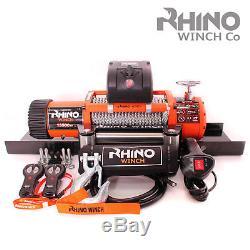 Treuil Électrique 12v Rhino 13500lb, Usage Intensif, Récupération 4x4 + Platine