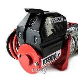 Treuil Électrique 13500lb Stealth 12v Steel Rope Wireless Recovery 4x4 Uk Stock