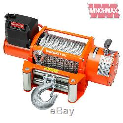 Treuil Electrique Recuperation 12v 4x4 17000 Lb Winchmax Original Orange Winch Remote