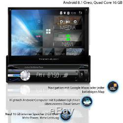 Tristan Auron Android Mit Navi Navigation Autoradio Bluetooth Dab + 1 Din Gps 3g