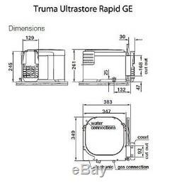 Truma Ultrastore Rapide Ge Chauffe-eau 10 Litres Caravane / Motorhome / Campervan