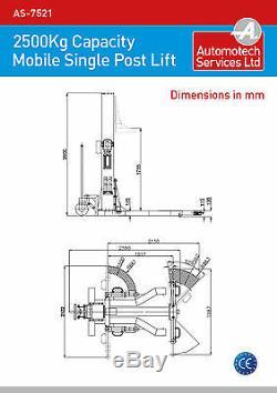 Un Seul Véhicule Mobile Poste Ascenseur / Mobile Portable 1 Post Voiture Rampe / 240v