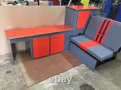 Vivaro Trafic Vw T4 T5 T6 Vito Lwb Kitchen Cupboard Camper Interior Unit + Lit