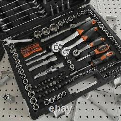 Vonhaus 215 Pièce Socket Set 1/4, 3/8, 1/2 Ratchets, Spanners, Torx