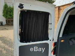 Vw T4 Maß Gardinen Vorhänge Sonnenschutz Transporter Multivan Caravelle Schwarz