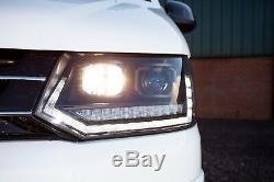 Vw T5.1 Transporter Led Drl Phares, Avec Indicateurs Sequentiels + Ampoules Blanches