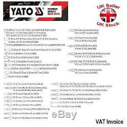 Yato Professional 216 Pcs Racket Socket Set 1/2 1/4 3/8 Outils Toolbox Yt-38841